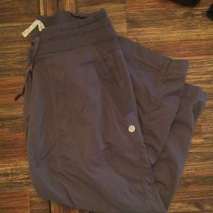 Lululemon Gray Capri Drawstring Pants